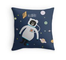 Allbärt. Bear in Space. Throw Pillow