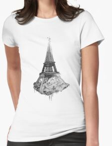 under the eiffel Womens Fitted T-Shirt