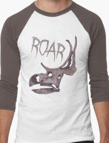 Triceratops Roar!  Men's Baseball ¾ T-Shirt