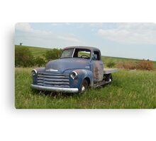 Blue Chevrolet Canvas Print