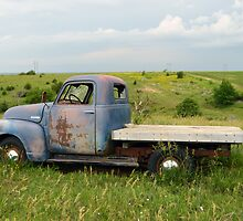 Blue Chevrolet Side by RenieRutten