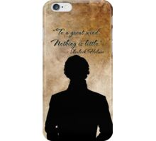 Sherlock Holmes Benedict Cumberbatch version  iPhone Case/Skin