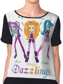The Dazzlings equestria girls Chiffon Top