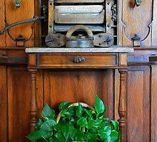 Antique Wringer Iron Halltree by Oscar Sage