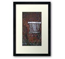Brick and Vine Framed Print