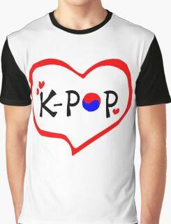 LOVE K-POP MUSIC Graphic T-Shirt