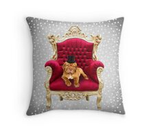 Dogue De Bordeaux Dapper Puppy Dog Throw Pillow