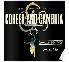 coheed and cambria north america tour 2016 Poster