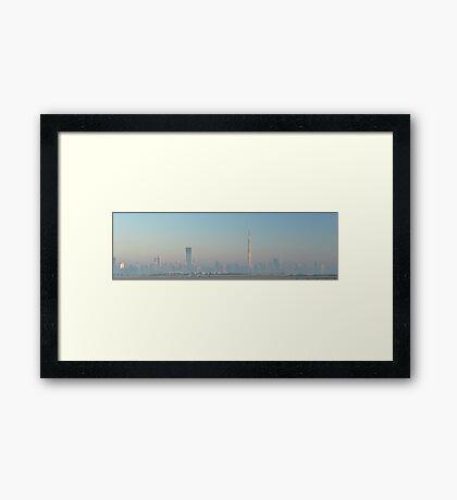 Foggy Morning Sunrise Framed Print