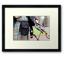 The Skirl of the Pipes Framed Print