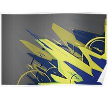 Abstract Graffiti Form Poster