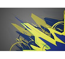 Abstract Graffiti Form Photographic Print