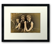 The Runner Boys Framed Print