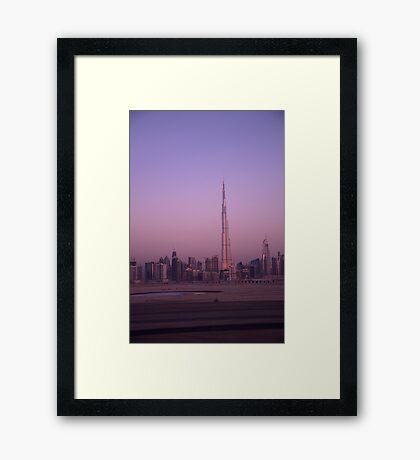 Burj's Burnished Beauty Framed Print