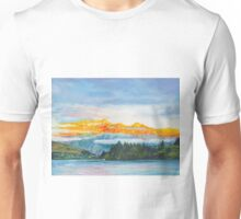 Sunset on the Remarkables at Queenstown, New Zealand Unisex T-Shirt