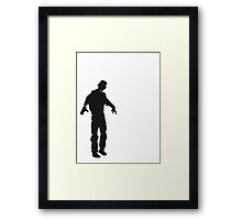 Zombie of undead man Framed Print