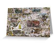 Irregular Stone Wall With Moss Greeting Card