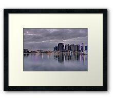 Docklands, Melbourne, Victoria Australia. Framed Print