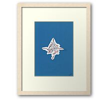 0202 - Kreuzgeburt before blue Background Framed Print