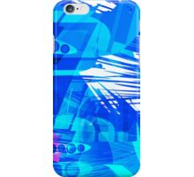 Blue Subway Background iPhone Case/Skin