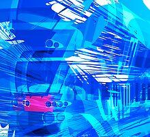 Blue Subway Background by aurielaki