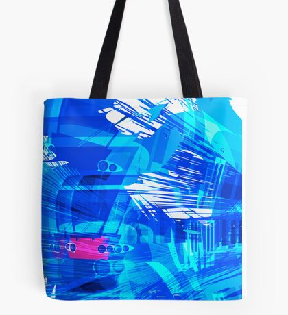 Blue Subway Background Tote Bag