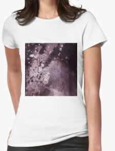 Purple Galaxy Womens Fitted T-Shirt