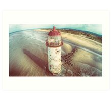 Talacre Lighthouse from the air Art Print