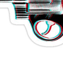 3D Revolver Sticker