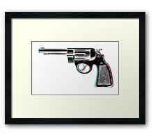 3D Revolver Framed Print