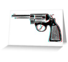 3D Revolver Greeting Card