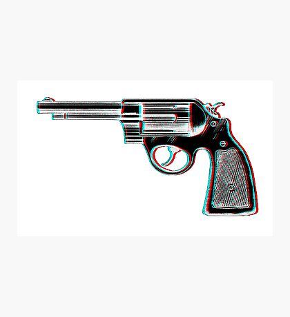 3D Revolver Photographic Print