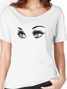 Blue eyes with long eyelashes  Women's Relaxed Fit T-Shirt