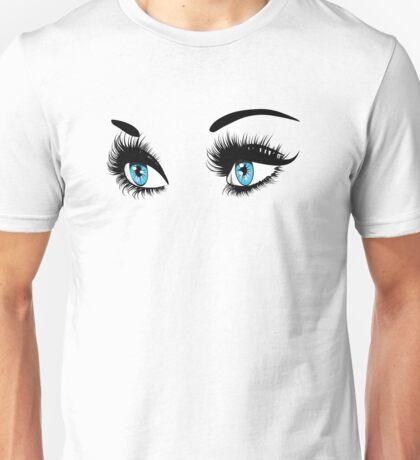 Blue eyes with long eyelashes  Unisex T-Shirt