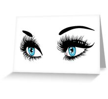 Blue eyes with long eyelashes  Greeting Card