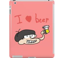osomatsu does a beer iPad Case/Skin