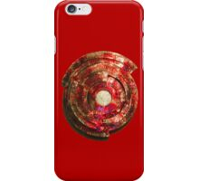 RED Metal Shield-t iPhone Case/Skin