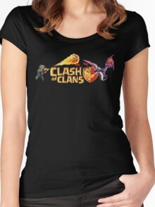 CLASH OF CLANS Women's Fitted Scoop T-Shirt
