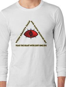 Gravity Falls- bill cipher fear the beast Long Sleeve T-Shirt