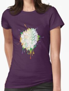 Tulips Grunge Sketch Colorful Womens Fitted T-Shirt