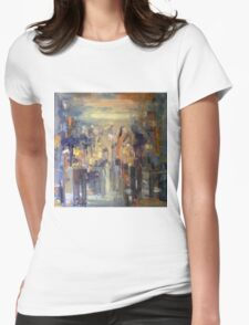 Busy street Womens Fitted T-Shirt