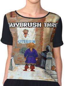 Wanted Guybrush Threepwood! (Monkey Island 2) Chiffon Top