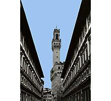 Uffizi Gallery and Palazzo Vecchio Florence Photographic Print