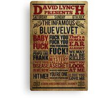 Victorian style movie poster Blue velvet Canvas Print