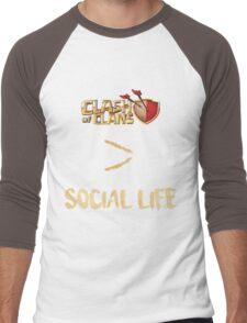 Clash of Clans no social life Men's Baseball ¾ T-Shirt