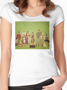 Moonrise Kingdom Cast Women's Fitted Scoop T-Shirt