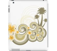 Tropical Beach Waves & Yellow Hibiscus iPad Case/Skin