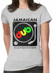 Jamaican Dub Sound System Womens Fitted T-Shirt