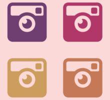 Insta Sunset Cameras Pattern One Piece - Short Sleeve