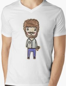 bob ross watercolor doodle Mens V-Neck T-Shirt